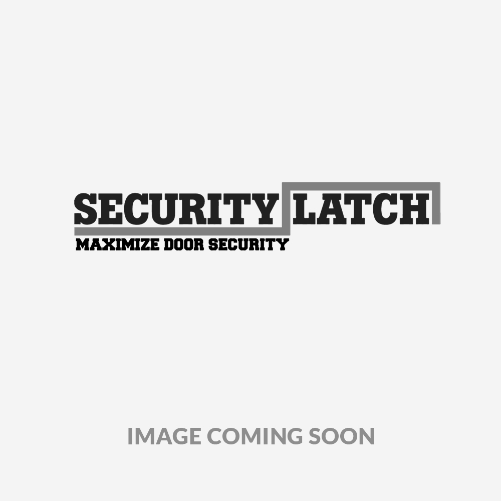 Security Latch Door Security Bar Flush Mount Double Door with Center Post Includes Cable Lock