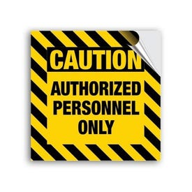 8in. High Intensity Caution Stickers - Caution Authorized
