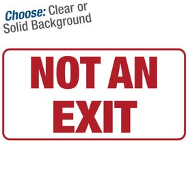 12in. X 6in. Permanent Decal Not An Exit/3pk.