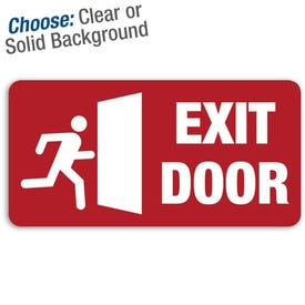 12in. X 6in. Permanent Decal Exit Door/3pk.