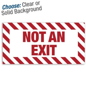 12in. X 6in. Permanent Decal - Not An Exit (3-pack) Part No. SLZ128