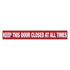 15in. X 2in. Door Decal-Keep This Door Closed