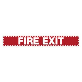 24in. X 3in. Door Decal-Fire Exit