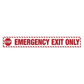 15in. X 2in. Door Decal-Stop Emergency Exit Only